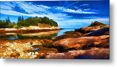 Quiet Cove At Great Wass Metal Print by Bill Caldwell -        ABeautifulSky Photography