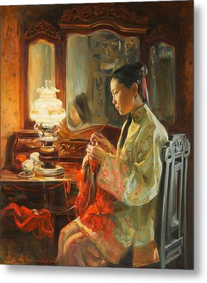 Quiet Evening Metal Print by Victoria Kharchenko