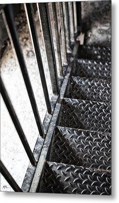 Quiet Stairwell Metal Print by Karol Livote
