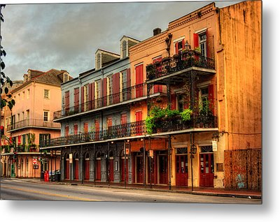 Quiet Time On Decatur Street Metal Print by Chrystal Mimbs