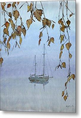 Quiet Water Metal Print by Carolyn Doe