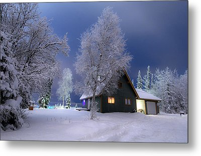 Quiet Winter Times Metal Print by Ron Day