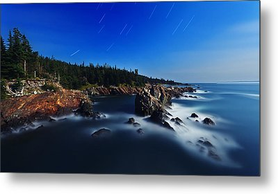 Quoddy Coast By Moonlight Metal Print by Bill Caldwell -        ABeautifulSky Photography