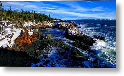 Quoddy Coast With Snow Metal Print by Bill Caldwell -        ABeautifulSky Photography
