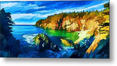 Quoddy Head Cove Metal Print by Bill Caldwell -        ABeautifulSky Photography