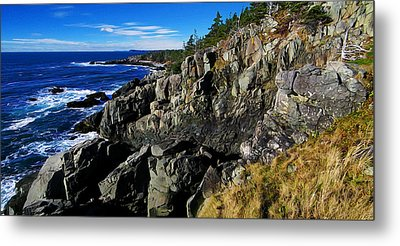Quoddy Head Ledge Metal Print by Bill Caldwell -        ABeautifulSky Photography