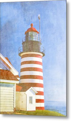 Quoddy Lighthouse Lubec Maine Metal Print by Carol Leigh