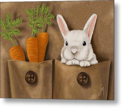 Rabbit Hole Metal Print by Veronica Minozzi