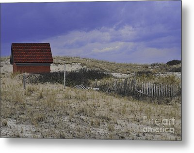 Race Point Light Shed Metal Print by Catherine Reusch  Daley
