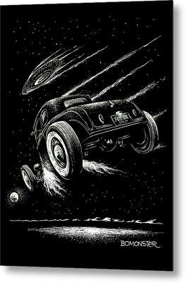Race To The Moon IIi Metal Print by Bomonster