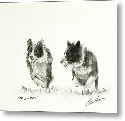 Race You There Metal Print by John Silver