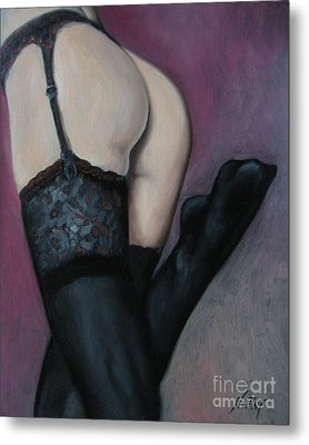 Racy Lacy Metal Print by Jindra Noewi