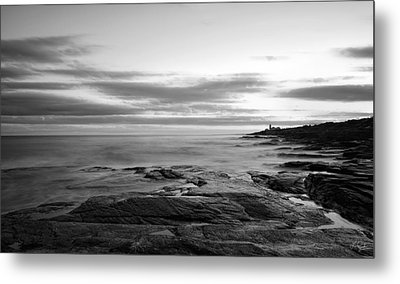Radiance Of Its Light Black And White Metal Print by Lourry Legarde