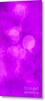 Radiant Orchid Abstract Metal Print by Jan Bickerton
