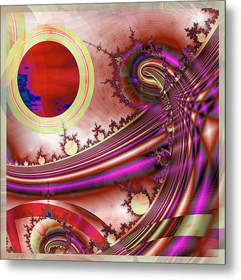 Radiant Orchid Metal Print by Wendy J St Christopher