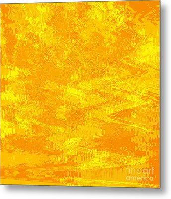Radiating Sunshine Colors - Abstract Art Metal Print by Carol Groenen