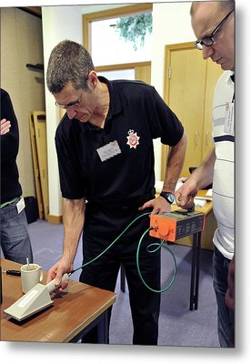 Radiation Emergency Response Training Metal Print by Public Health England