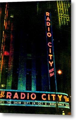 Radio City Grunge Metal Print by Joann Vitali