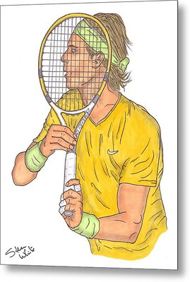 Rafael Nadal Metal Print by Steven White