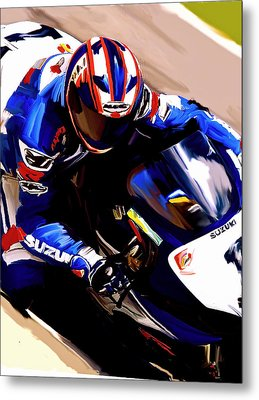 Rage With Machine Mat Mladin Metal Print by Iconic Images Art Gallery David Pucciarelli