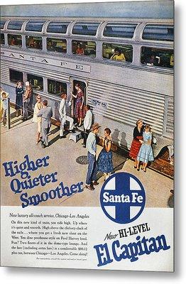 Railroad Ad, 1957 Metal Print by Granger