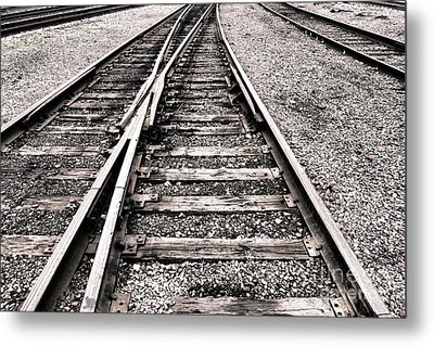 Railroad Switch Metal Print by Olivier Le Queinec
