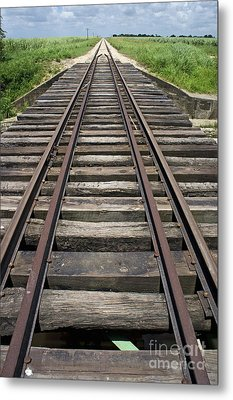 Railroad Tracks Metal Print by Sami Sarkis
