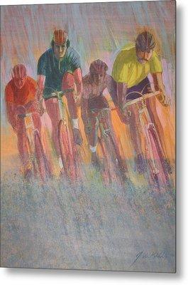 Rain Racers Metal Print by J W Kelly