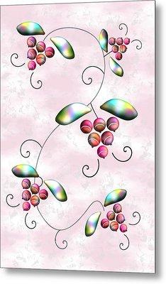 Rainbow Berries Metal Print by Anastasiya Malakhova