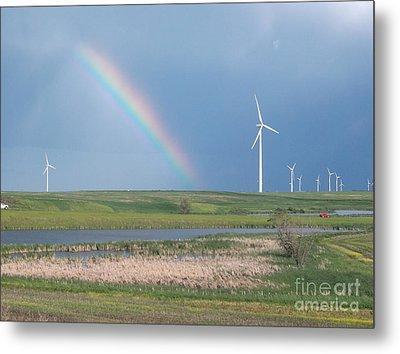 Rainbow Delight Metal Print by Angela Pelfrey