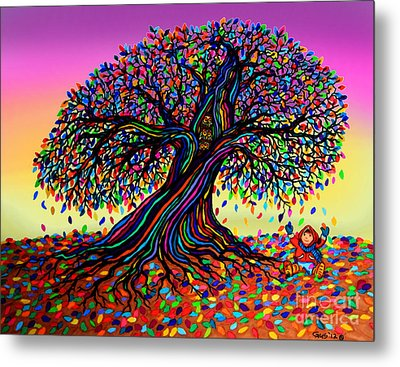 Rainbow Dreams And Falling Leaves Metal Print by Nick Gustafson