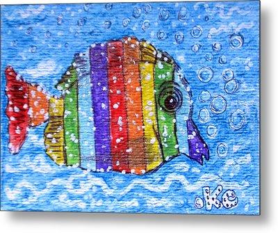 Rainbow Fish Metal Print by Kathy Marrs Chandler