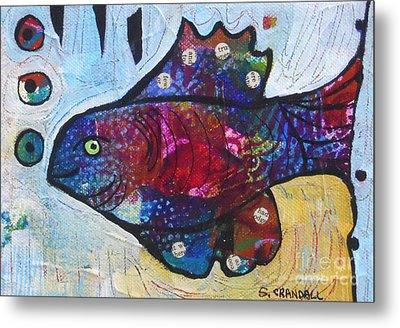 Rainbow Fish Metal Print by Shannon Crandall