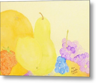 Rainbow Fruits And The Floating Lemon Metal Print by Ann Michelle Swadener