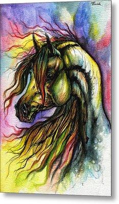 Rainbow Horse 2 Metal Print by Angel  Tarantella