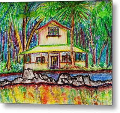 Rainbow House Metal Print by W Gilroy