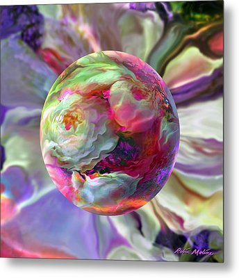 Rainbow Of Roses Metal Print by Robin Moline