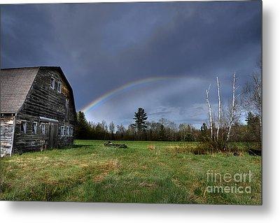 Rainbow On The Farm Metal Print by Alana Ranney