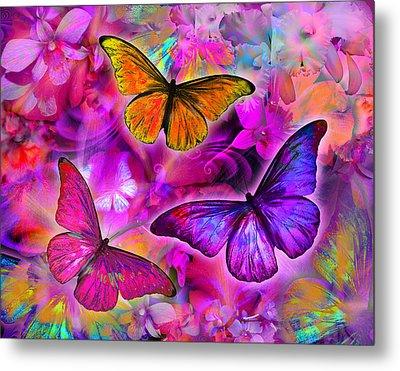 Rainbow Orchid Morpheus Metal Print by Alixandra Mullins