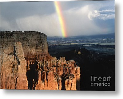 Rainbow Over  Bryce Canyon Metal Print by Sandra Bronstein