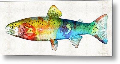Rainbow Trout Art By Sharon Cummings Metal Print by Sharon Cummings
