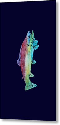 Rainbow Trout Metal Print by Jenny Armitage