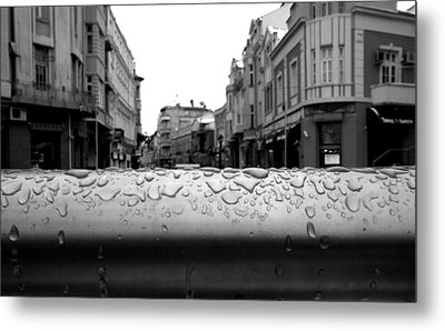 Raindrops Metal Print by Lucy D