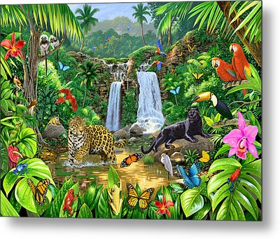 Rainforest Harmony Variant 1 Metal Print by Chris Heitt