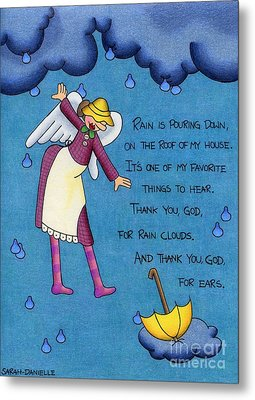 Rainy Day Angel Metal Print by Sarah Batalka