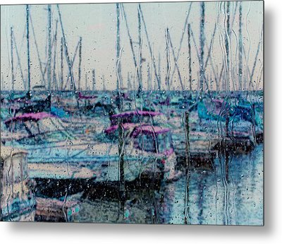Rainy Day At The Lakefront Metal Print by Jack Zulli