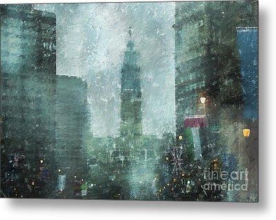Rainy Day In Philadelphia  Metal Print by Diane Diederich