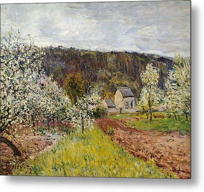 Rainy Spring Near Paris Metal Print by Alfred Sisley