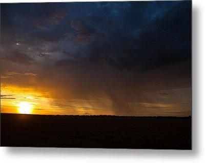 Rainy Sunset  Metal Print by Brandon  Ivey