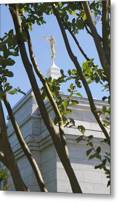Raleigh Nc Lds Temple Metal Print by Nathanael Verrill